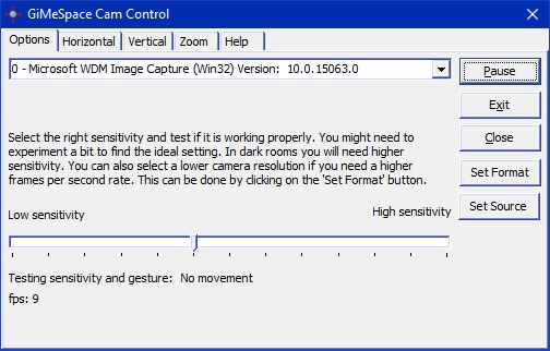 GiMeSpace Cam Control screenshot