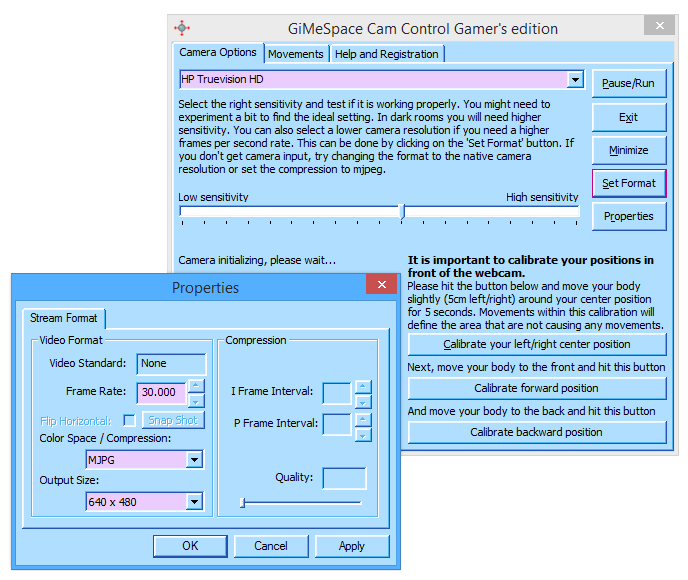 GiMeSpace CamControl Gamers Edition 3.1.5.39 Screen shot